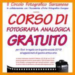 CORSO DI FOTOGRAFIA ANALOGICA GRATUITO